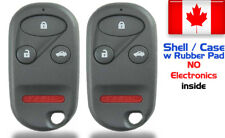 2x New Replacement Keyless Remote Key Fob For Honda Accord & Acura - Shell Only