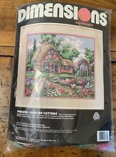 "Dimensions ""Peaceful County Cottage"" Needlepoint Kit - Unopened"
