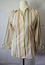 Liz Claiborne Striped Vintage Ladies Shirt size 10