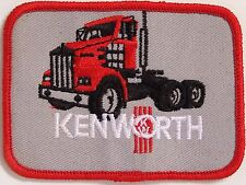 Kenworth Trucks Grey Embroidered Patch 100x73mm Woven Cloth Badge Sew-on NOS
