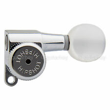 Hipshot Tuners Schaller Mini M6 Style w/ PEARLOID Buttons A05 Set 3x3 - CHROME
