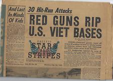 Viet-Nam Era Pacific Stars and Stripes Newspaper Feb 24,1969 Free Usa Shipping