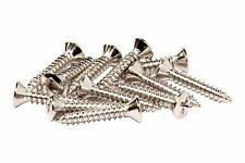 "#3 x 5/8"" Phillips Oval Head Wood Screw - misc guitar hardware - Nickel"