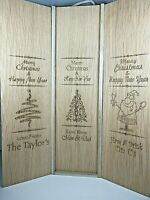 PERSONALISED Wine/Gin/Prosecco Christmas Gift Box Laser Engraved Gift
