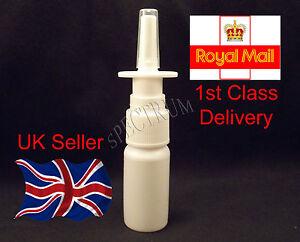 10ml Fine Mist Nasal Spray Pump Bottle (Empty, Refillable)