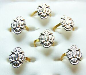 3 Pair Toe Rings Set Indian Wedding Bichiya 6 Pcs Nickel ADJUSTABLE Toe Ring