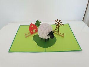 3d Popup Sheep Card