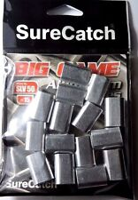 15 x 5.0mm SURECATCH BIG GAME ALUMINIUM CRIMPS FISHING SLEEVES FOR MONO & WIRE