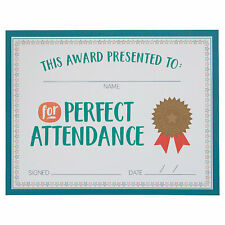Perfect Attendance Certificates - Stationery - 25 Pieces