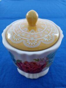 Pioneer Woman Stoneware Blossom Jubilee Sugar Bowl With Lid