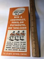 Rare Vintage 1936 ATLANTIC  REFINING COMPANY Football Contest No 3 Advertising
