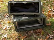 Hardigg 3RU Rack Shock Mount Military Pelican Style Road Flight Case Green