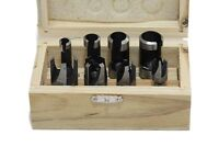 Wood Plug Cutters Set 8 Piece in Wooden Box Joinery Carpentry WW132