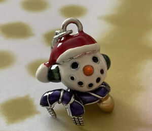 Brighton SNOWMAN Scarf Colorful Winter Holiday Merry Christmas Silver ABC Charm