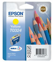 GENUINE AUTHENTIC EPSON T0324 YELLOW INK CARTRIDGE EPSON STYLUS