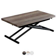 Mesa de centro o comedor, extensible y elevable, Nogal y Negro, Up - Down