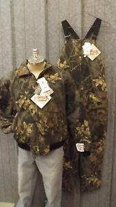Vtg NEW Mossy Oak Break-up Camo Quilted Jacket & Bibs Scentlok Johnson Garment L