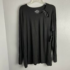 Torrid Size 1 Top Super Soft Knits Black Long Sleeve Casual Stretch Plus