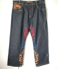 COOGI VTG Jeans 40x34 GOLD RED BLUE Embroidery Mens Loose Hip Hop ROYALE COOGI