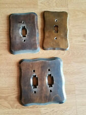 Vintage Brown Stained Double Single Wood Light Switch Cover Plates