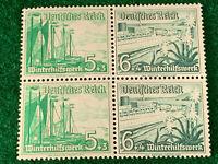 Germany stamps 1937  mi#w125 block of 4  Mnh B71-72 Pair
