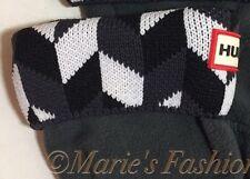 NWOB Adult HUNTER Geometric Knit Cuff Fleece Welly Tall Rain Boot Liners Socks