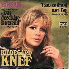 """7"""" Hildegard Knef – Einsam / Tausendmal am Tag // Germany 1967"""