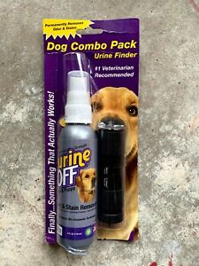 Urine Off Dog Combo Pack (Stain Remover 118ml + Urine Finder Light Touch)