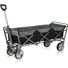 More details for extended collapsible folding wagon cart outdoor camping utility garden trolley