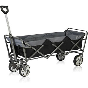 Extended Collapsible Folding Wagon Cart Outdoor Camping Utility Garden Trolley