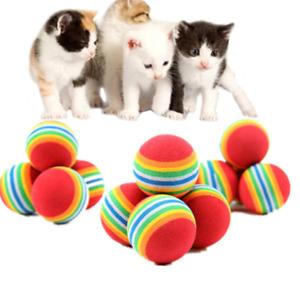 3.5 cm 3 Pcs Rainbow Balls Pet Toy Baby Dog Cat Toys Colorful Play kitten