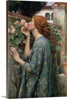 The Soul of the Rose, 1908 Canvas Wall Art Print, Rose Home Decor