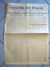 GAZZETTA DEL POPOLO GIUGNO 1932 CAMICIE ROSSE CAMICIE NERE MUSSOLINI  LB-52