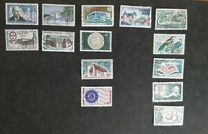 Collection of 1960's French postage Stamps - France