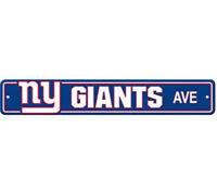 "New York Giants Ave Street Sign 4""x24"" NFL Football Team Logo Avenue Man Cave"