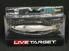 "LIVE TARGET- MULLET - SIZE 5 1/3""- WEIGHT 5/8oz - SURFACE - COLOR NATURAL/ BLACK"