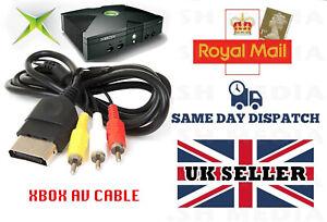 AV CABLE FOR XBOX (ORIGINAL) TV COMPOSITE RCA LEAD - FOR MICROSOFT XBOX