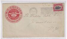 1901 Binghamton NY, 2c Pan American Advertising, HC Collier Shellac & Varnish