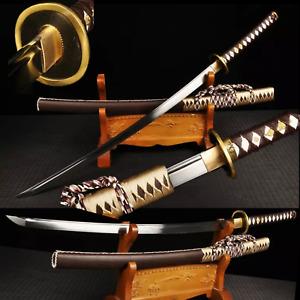 Handmade T1095 Steel Japanese Samurai Katana Sword Tachi Full Tang Sharp