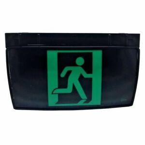 BLACK LED Emergency light Exit Sign Surface Mount