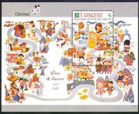 St Vincent 1991 Christmas/Disney/Greetings/Cartoons/Animation 1v m/s (n36443)