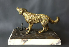 Bronze: Jagdhund, Entwurf Moulin, signiert