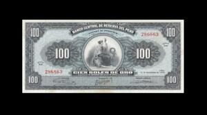 12.9.1962 PERU 100 SOLES **RARE** (( UNC - Toning ))