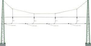 NEW MARKLIN 74132 HO GAUGE CATENARY CROSS SPAN ASSEMBLY QUERTRAGWERK 3 TRACKS