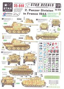 Star Decals 1/35 2nd PANZER DIVISION IN FRANCE IN 1944