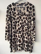 M&S Sz 20 NEW Leopard Print Slouch Jumper Dress Tunic V-Neck