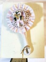 VTG Loren Home Decor Capodimonte Porcelain Baby Rattle Figurine Italy NOS