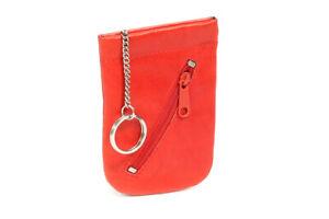 LEAS Schnappschlüsseltasche Schlüsselglocke Echt-Leder, rot