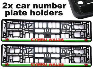 2 x Doming CAR Number Plate Surround Holder Frames for CYMRU WALES WELSH FANS