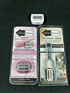 Omni Shaver Premium Pink Replacement Cartridge + Bonus Hot Water Tongs